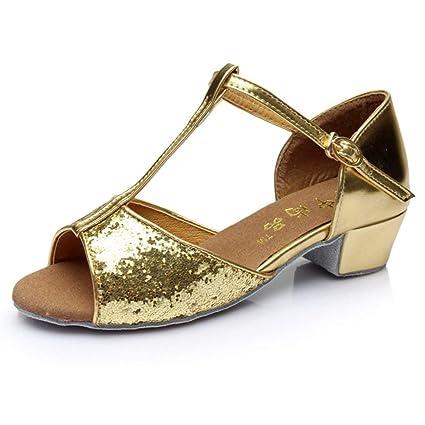 De Fuxitoggo Baile Zapatos Latino Niñas Para HIWED92