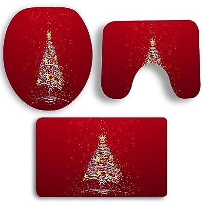 hkfv Amazing excelente diseño creativo Navidad decoración para el hogar Navidad Alfombras de baño antideslizante alfombra