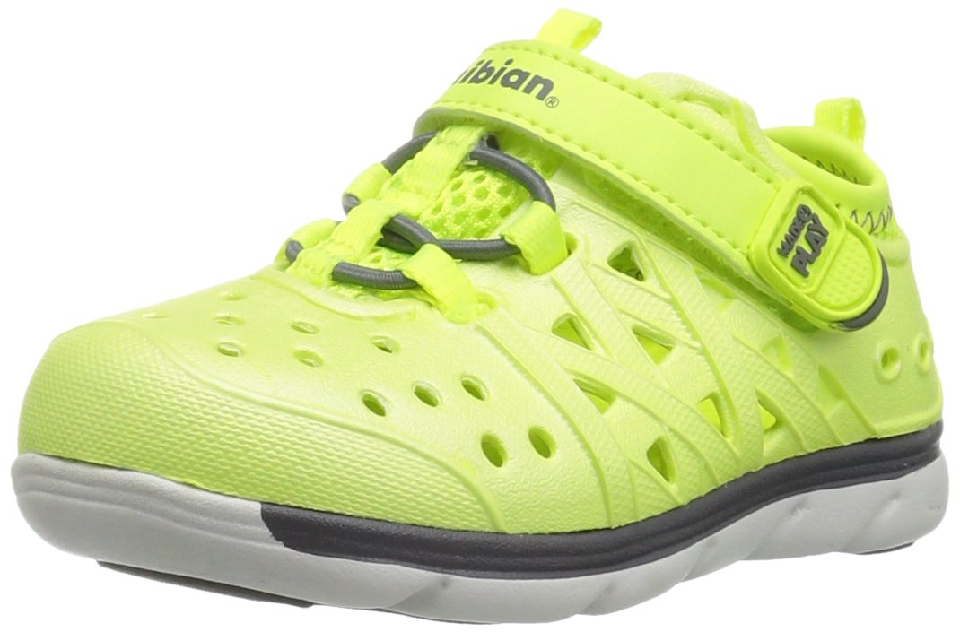 Stride Rite Made 2 Play Phibian Sneaker Sandal Water Shoe (Toddler/Little Kid/Big Kid), Citron Metallic, 10 M US Toddler