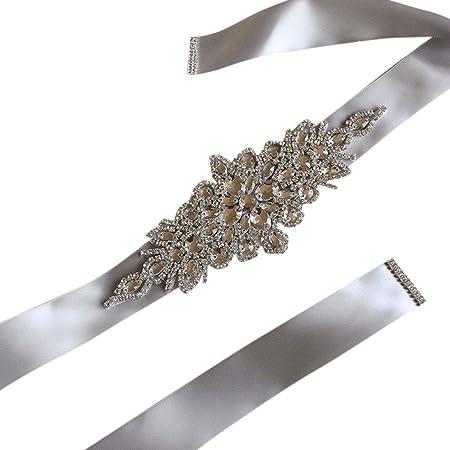 noi sporchi negozio del Regno Unito prezzo più economico Haptian Cintura Donna Matrimonio Elegante rombico Strass Nastro di ...