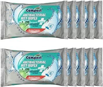 (Bundle of 10) Ultra Compact Antibacterial Wet Wipes 40's