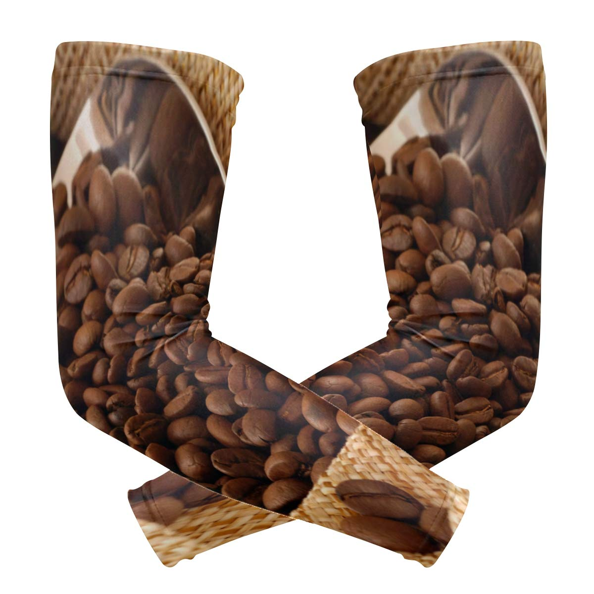 Arm Sleeves Coffee Cup Womens Sun UV Protection Sleeves Arm Warmers Cool Long Set Covers