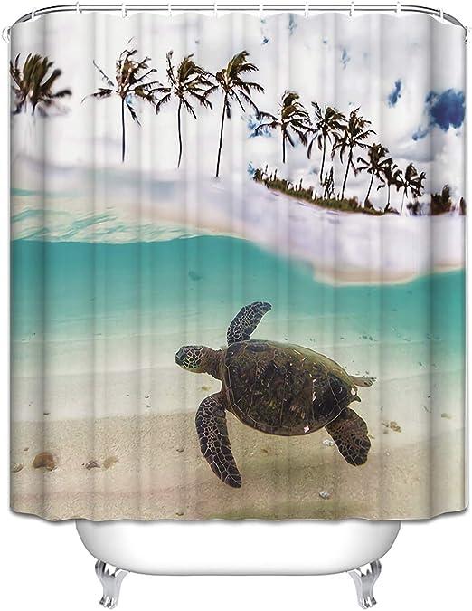 Amazon Com Atoly Turtle Home Decor Shower Curtain 72 X 80
