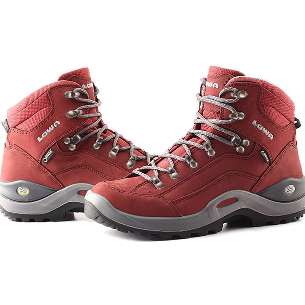 2 diff/érentes Tailles de Lacets de Lacets de Chaussures dor avec des Rivets pour la R/éparation descalade et Chaussures de Plein Air nbeads 40 Sets Crochets Alliage Lace Lace