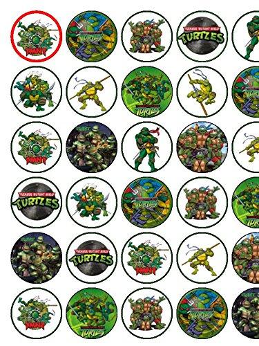 30 lakeballs Tortugas Ninja de primeros de la torta de papel ...