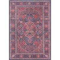 Momeni Rugs AFSHAAFS10NVY3050 Afshar Traditional Medallion Area Rug x, 30 x 50, Navy Blue