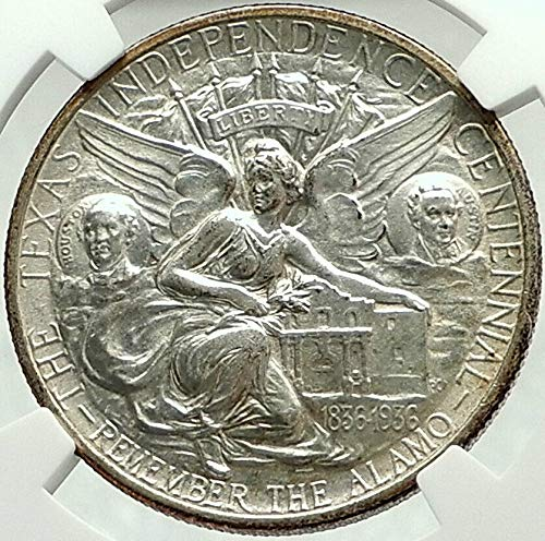 - 1934 1934 TEXAS Independence Commemorative AR Half Dol coin MS 64 NGC