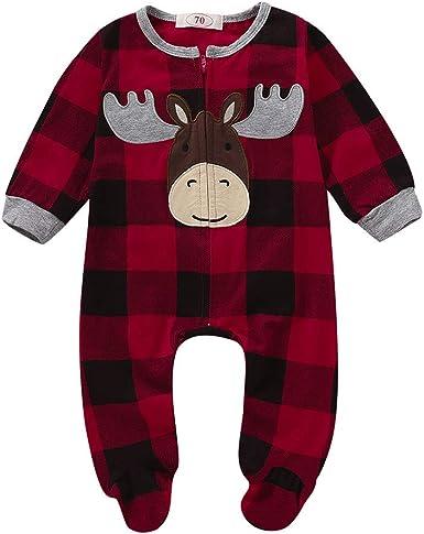 Tefamore Ropa Bebé Niño Navidad Recién Nacido Pijama Bebés Algodón ...