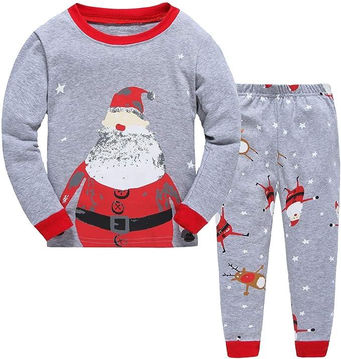 Christmas Child Kids Baby Boys Girls Xmas Pj/'s Cotton Nightwear Pyjamas PJS Set
