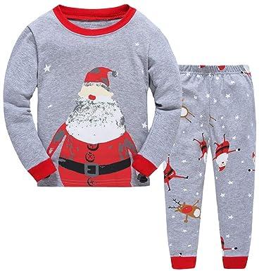 28907c87f Children Kids Christmas Pyjamas Sets Baby Boys Girls Cotton Pjs Xmas ...