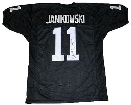 Sebastian Janikowski Autographed Jersey -  11 Black Gtsm - GTSM Certified -  Autographed NFL Jerseys f17da2508