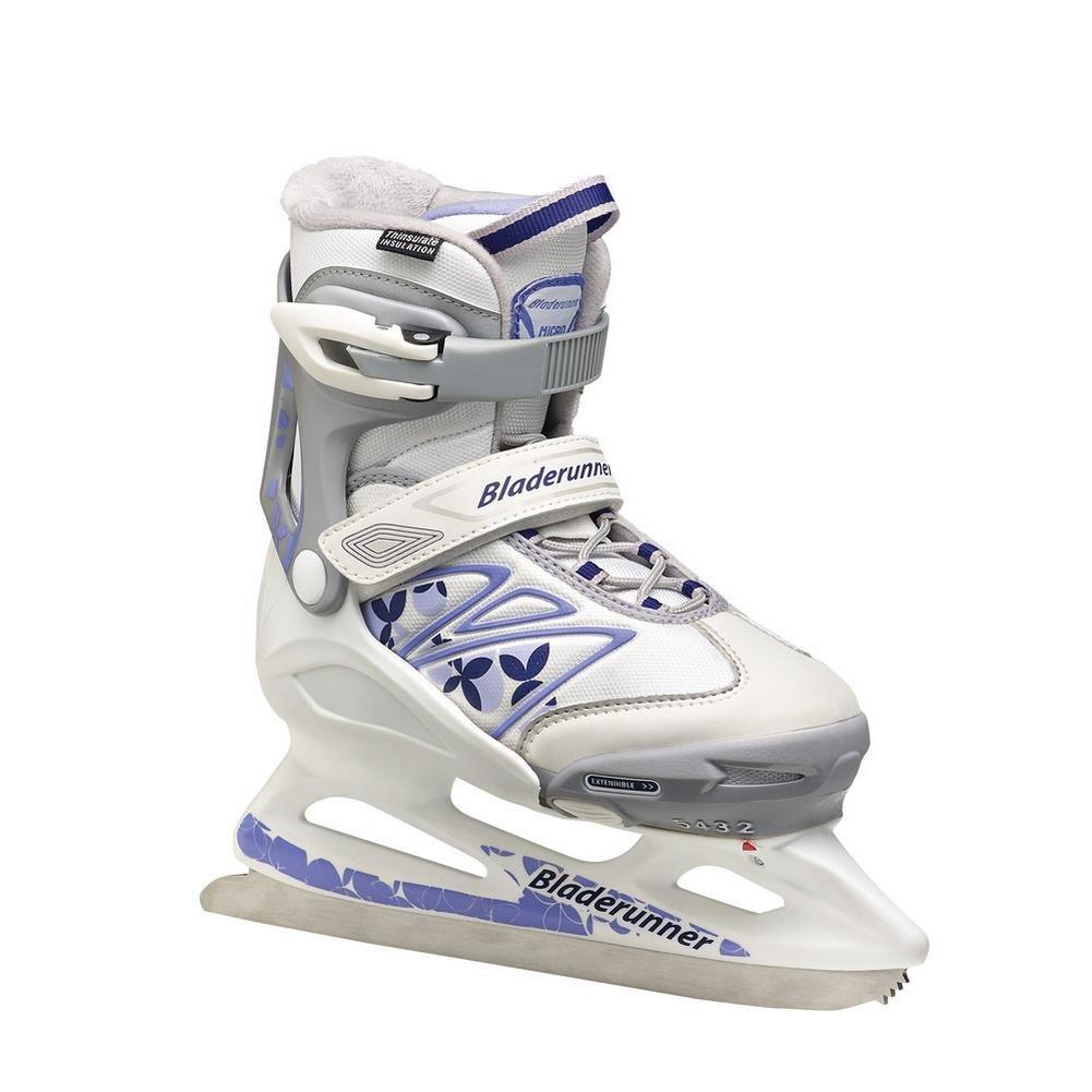 Bladerunner Youth Ice Micro XT G Skate, Size 12J-2, White/Purple