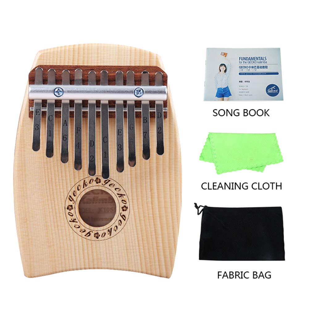 MG.QING 10 Key Kalimba C Tone Thumb Piano Spruce Finger Musical Instrument Beginner Student by MG.QING
