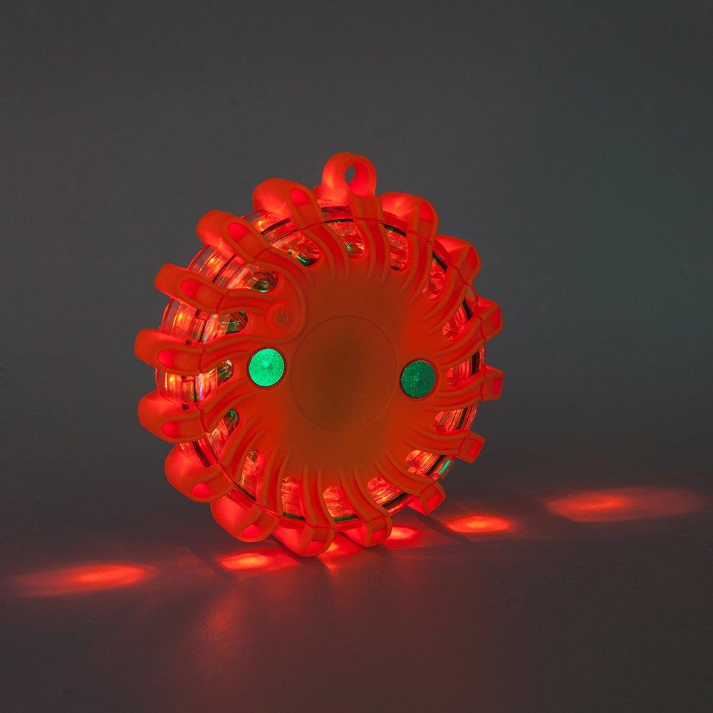 Blau LED Warnleuchte Warnblitzer mit Magnetisch f/ür auto notfall pannenhilfe inklusive Akku und Ladeger/ät