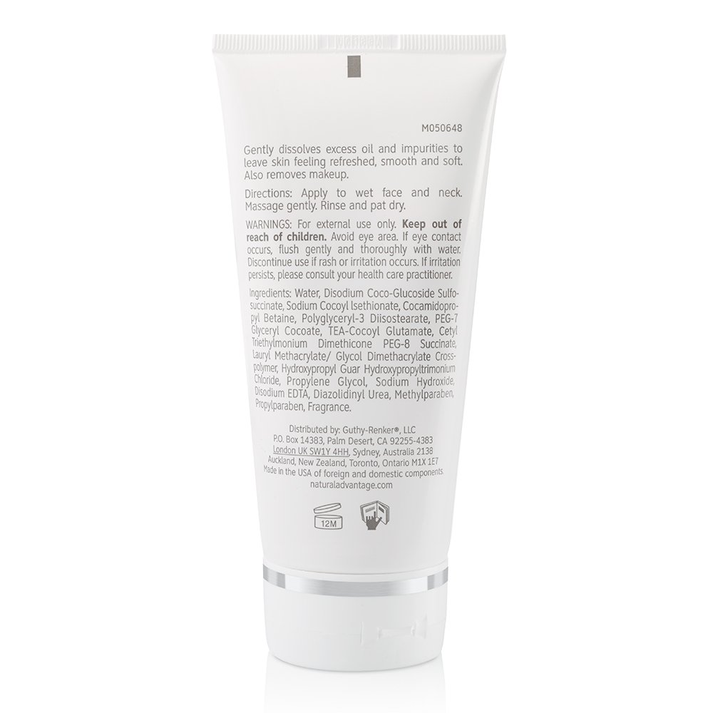Daily Cleansing Gel Gentle Hydrating Wash Light Fragrance 90 Day Supply 6 Ounces Natural Advantage by Jane Seymour
