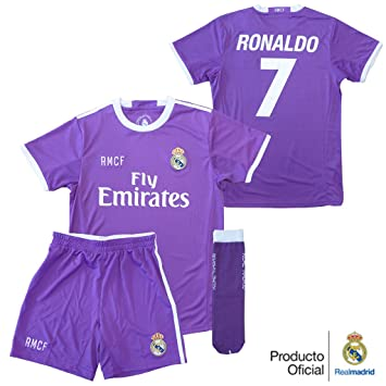 Official Real Madrid 2nd Team Away Kit 2016- 2017 Child Ronaldo ... 4cde018fd4778