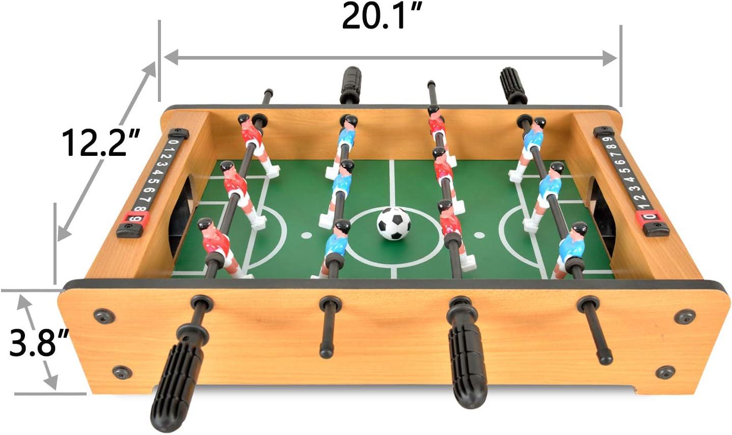 WIN.MAX Mini Mesa de Futbolín, Mesa de Juego de Fútbol/Futbolin Ligera Portátil para Niños, Fácil de Montar y Almacenar, 51 x 31 x 10 cm: Amazon.es: Juguetes y juegos