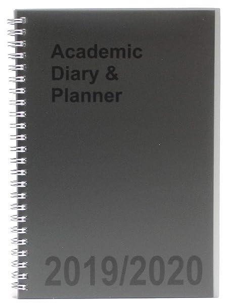 Agenda escolar A5 2019-2020 semanal con espiral, color gris ...