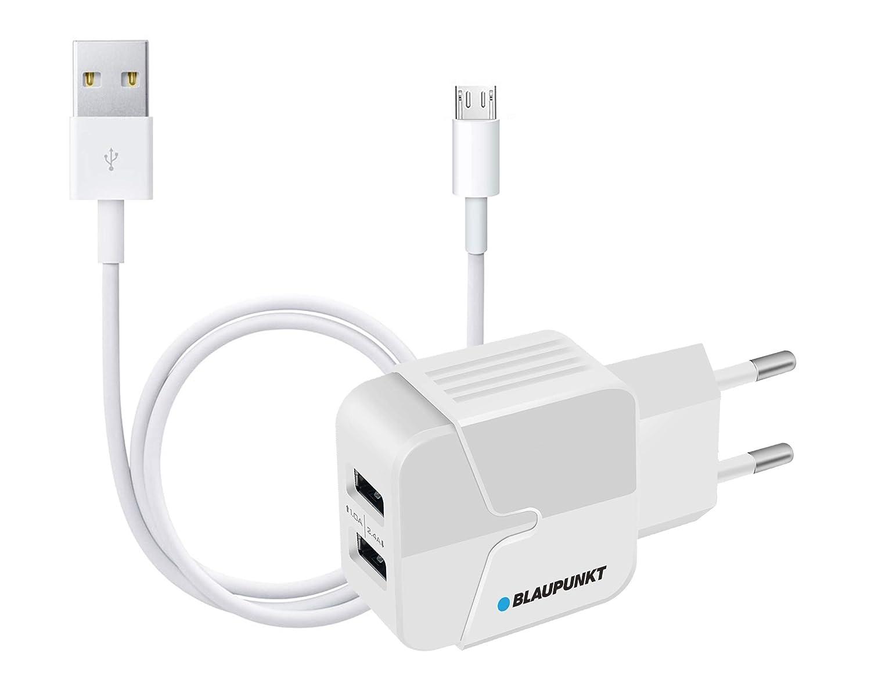 Blaupunkt BLP0206.112 - Cargador de Red con 2X USB y Cable Micro ...