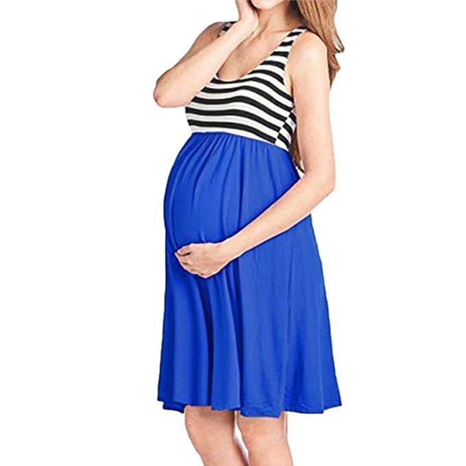 K-youth Vestidos Premama Verano Vestido Fiesta Embarazada Vestido para Mujeres Embarazadas Vestidos Playa Mujer