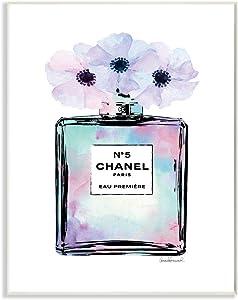 Stupell Industries Purple Flower Perfume Glam Fashion Design, Designed by Amanda Greenwood Art, 10 x 0.5 x 15, Wall Plaque