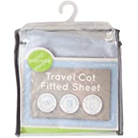 Playette Travel Cot Fitted Sheet, Blue