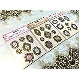 3 Sets/Lot Vintage Deocrative 3D Adhesive Metal Stickers For Diy Gift/Photo Album Scrapbooking Paper Craft Supplies Wedding Deco^.