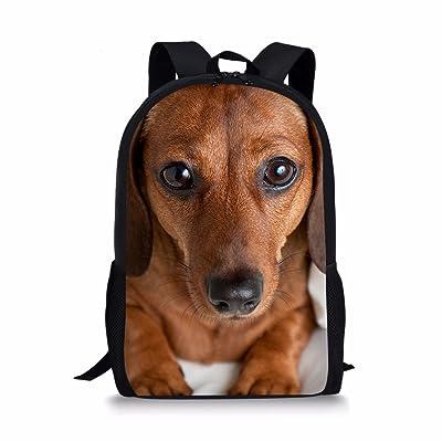 f4d0db06f0 Dellukee Stylish School Backpacks Kids Cute Durable Large Book Bag Casual  Daypack Dog Print