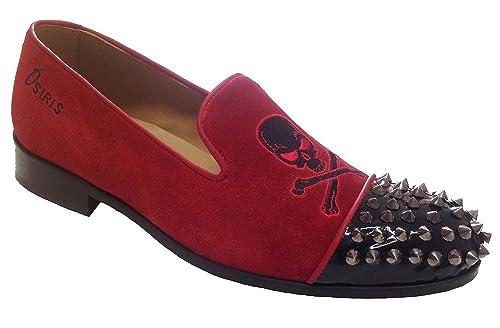 Garofalo Gianbattista - Mocasines de Piel para Hombre Rojo Bicolor: Amazon.es: Zapatos y complementos