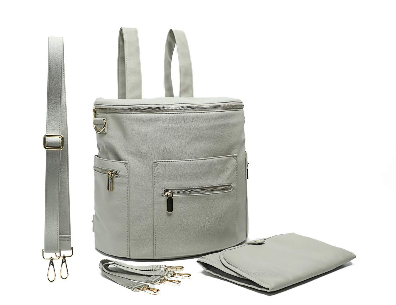 Amazon.com   Leather Diaper Bag Backpack by Miss Fong ab2715030a2f4