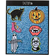 Tattify Spooky Embroidered Sticker Patch Collection - Stick or Iron on Fabric, Clothing, Denim Jackets, Jeans, Phones and Laptops