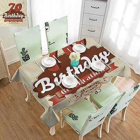 FreeKite 70s - Mantel de Vinilo para Mesa de Patio con ilustración ...