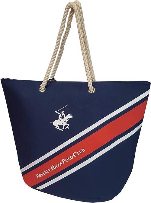 Beverly Hills Polo Club Bolso de playa XXL bh1681 azul bolso de ...