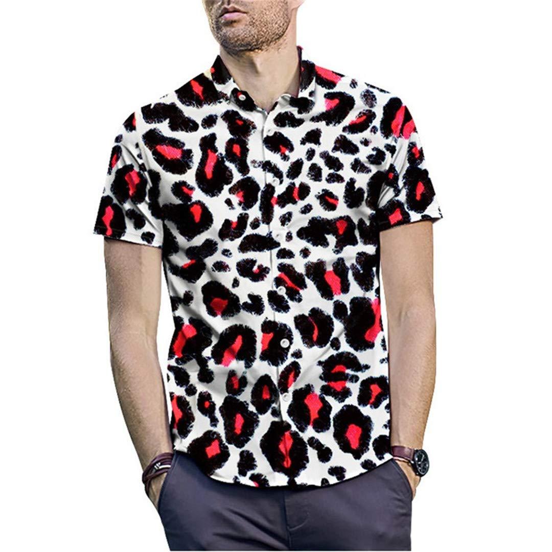 Summer Men Shirt 3D Snake Cobra Printed Short Sleeve Shirt Hip Hop Streetwear Cool Hawaiian Shirt