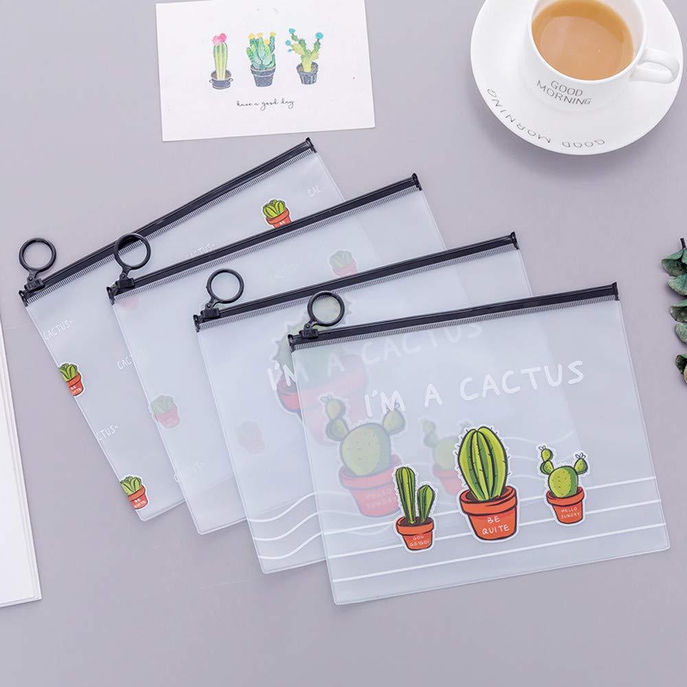 Hot Sale!DEESEE(TM)????????Cute Cactus Student Pencil Pen Case Cosmetic Pouch Pocket Brush Holder Makeup Bag