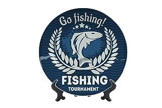 Piatti Casa Pescatori Andare a pesca Ceramica Stampato Pesca Sportiva