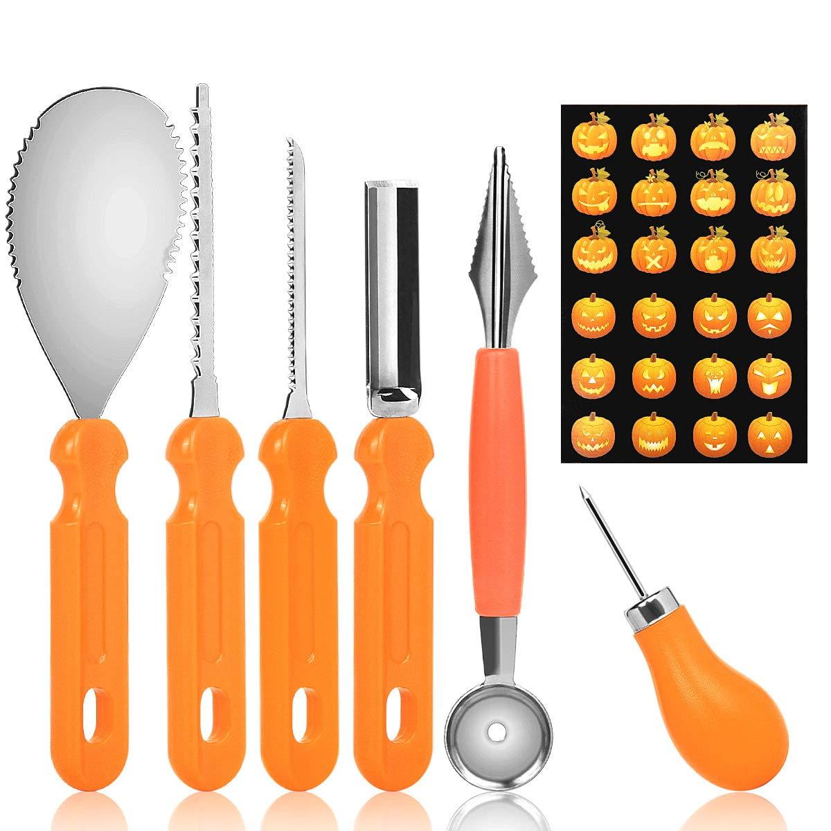 6PCS Pumpkin Carving Tools,CYzuantan Pumpkin Light Carving Tools,Halloween Pumpkin Lantern Carving Set,Pumpkin Lamp Carving Knife,Pumpkin DIY Making Tool Set - Suitable for Kids and Adult DIY Tools
