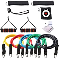 Losungen Resistance Band Set 12 Pieces Max - Stackable up to 110lbs for Resistance Training with [FREE FACE TOWEL…