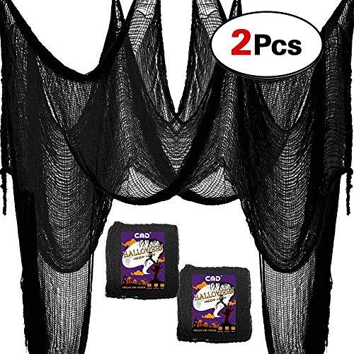 Halloween Animatronics Kits (CMD 2PCS Scary Halloween Decor Creepy Cloth Decorations (Black&Grey, 39
