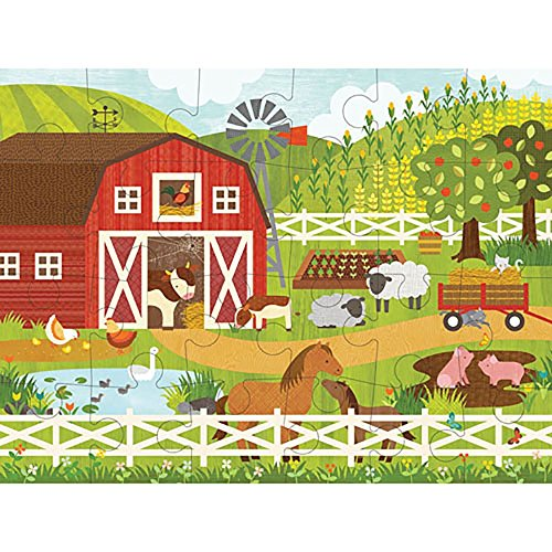 [Petit Collage Floor Puzzle, On the Farm, 24 pieces] (Farm 24 Piece Floor Puzzle)