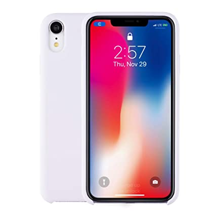 """buy online 9e5ea a37e6 Silicone Case for iPhone XR, Protective Cover for Apple iPhone XR, 6.1""""  White"""
