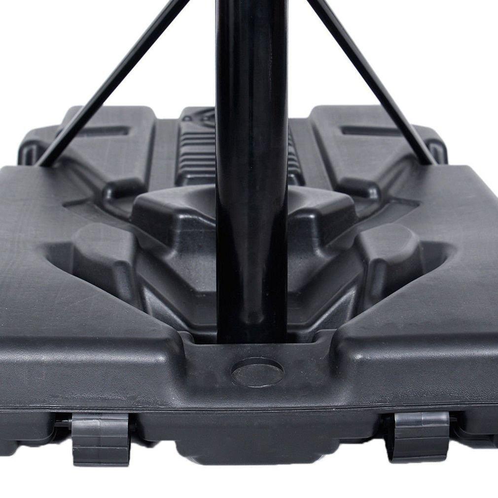 KLB Sport Pro Court Height Adjustable Portable Basketball Hoop System w/Wheels, 43 Inch Backboard (Black Coated) by KLB Sport (Image #5)