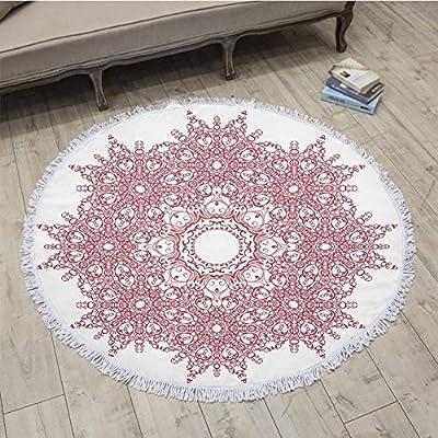 ... de Tela de Microfibra Toalla Toalla de Playa para Adultos Yoga Mat Borla Grande Toalla Redonda de algodón 150 cm tapicería decoración para el hogar