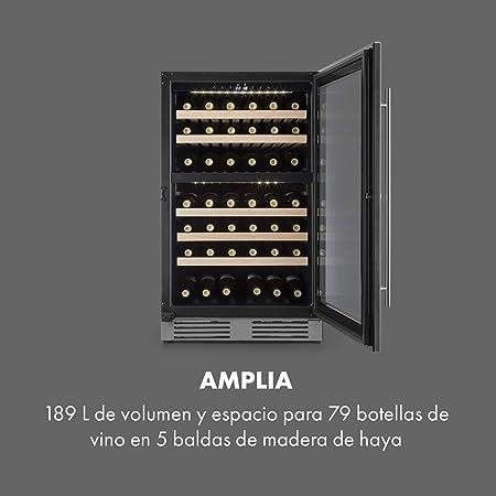 Klarstein Vinovilla Duo 79 Nevera para vinos - 59,5 cm, 189 litros ...