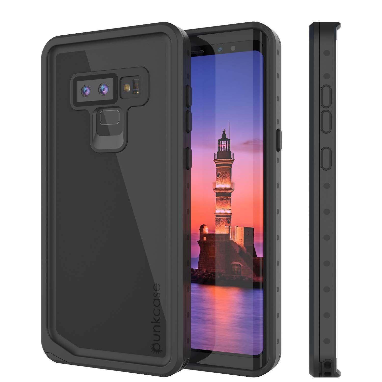 Galaxy Note 9 Waterproof Case, Punkcase [StudStar Series] [Slim Fit] [IP68 Certified] [Shockproof] [Dirtproof] [Snowproof] Armor Cover for Samsung Galaxy Note 9 [Black]