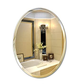 Frameless ovaler Badezimmer-Wand-Spiegel/Frisierkommode ...