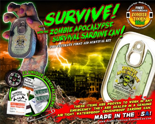 Zombie Apocalypse Survival Kit In A Sardine Can! (Zombie Survival Can compare prices)