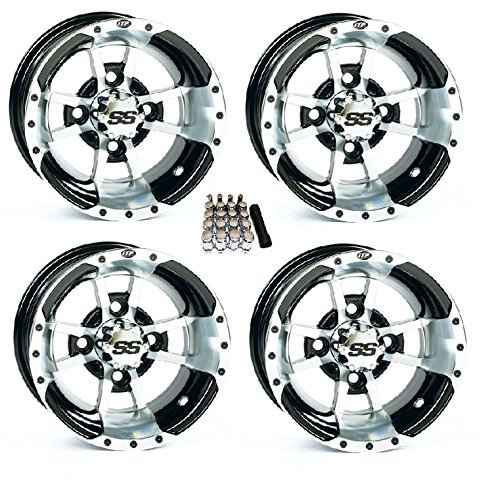 SS112 Black Wheels 10SS44 EZ GO