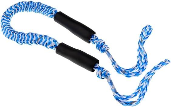 Rouge et Bleu MagiDeal Corde damarrage Sangle de Mouillage Corde /Élastique Amarre pour Bateau
