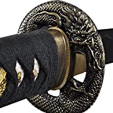 Handmade Sword - Samurai Katana Sword, Practical, Hand Forged, 1045 Carbon Steel, Heat Tempered/Clay Tempered, Full Tang, Sharp, Scabbard